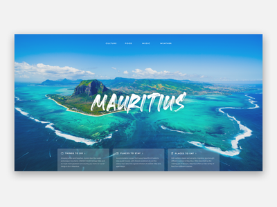Mauritius Web Page user interface web icon responsive web design landing  page design ux ui  ux design figma web design interface design ui ui design