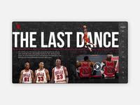 The Last Dance Landing Page ui  ux design sketch web landing  page responsive web design web design ui design visual design product ui  ux ux design ux user interface design user interface ui