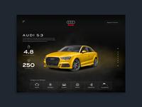 Audi Landing Page responsive web design product design ux design user interface design landing  page web design user interface ux ui  ux design ui design ui