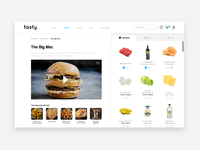 Tasty Web Page ux design web landing  page design responsive web design web design user interface ux ui design ui