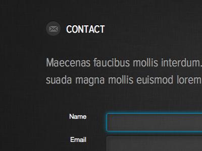 Contact contact black grey blue