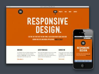 Redesign .2 mensch orange minimal responsive