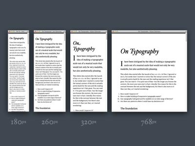 On Typography typography hoefler adaptive responsive plain simple