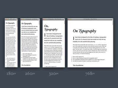 On Typography typography hoefler adaptive responsive plain simple