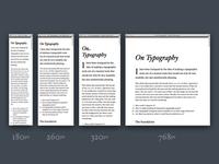 On Typography