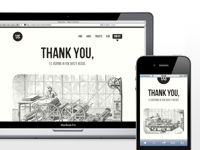Thank you clean typography black simple responsive