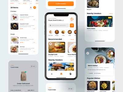 Food Delivery UI shopping product design menu app ecommerce dish delivery food app cart buy