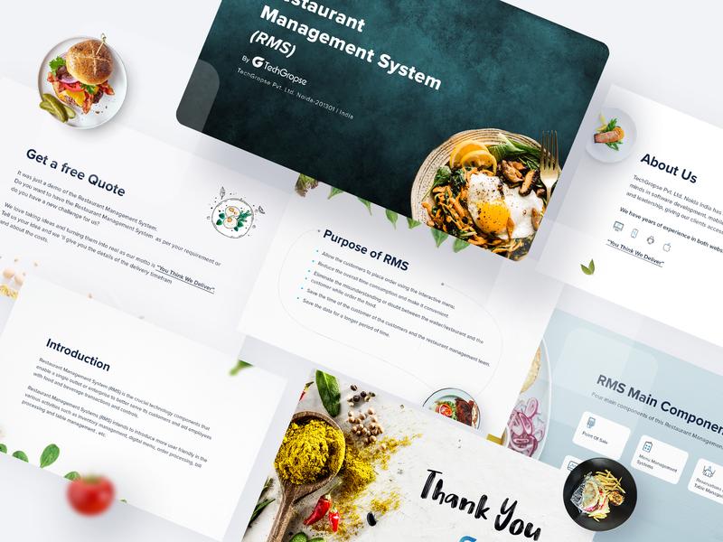 Food App Details - Presentation 2019 trends 2019 trends uidesign vegetables presentation slides service dishes color order food app food
