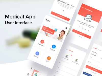 Medical App | 24x7 Care ios android ui design clean ui doctor appointment appointment doctor nurses caregiver care medical app