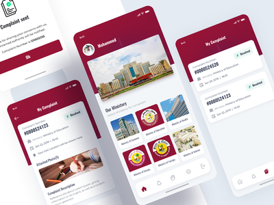 Complaint App | Ministry mobile app tabbar 2019 design app mobileappdesign ios android solution app ministry complaint app complaint