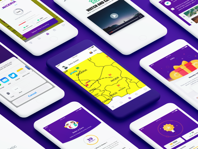 Tada App UI | State Quiz Game mobileappdesign 2019 android app develope appdevelopment ios android uidesign game app puzzle game puzzles quiz