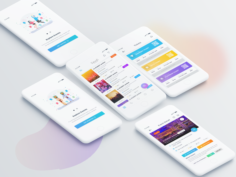 Event App UI tickets mobileappdesign design appui ios android app event app party organizer event agency event