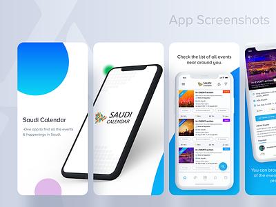 App Screenshots | App Store events saudi arabia calendar live apps design ios appstore appscreenshots