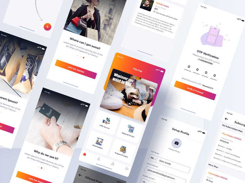 Wanted.ae android design ios appdesign product service app
