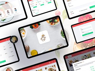 IN- Restaurant Management System cooking food booking order food uiux ui design ipadapp restaraunt