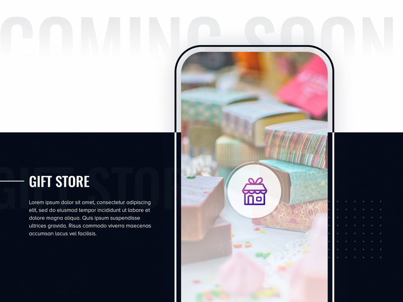 Gift Store | Coming Soon... giftapp appui gifts latestproject comingsoon flat appuidesign 2019 buygift apps gift