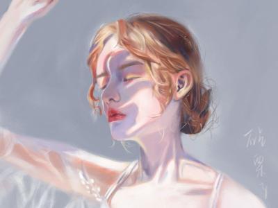 A girl in the sun