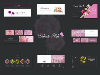 Delicate Petals (eCommerce) illustration web design landing page branding logo ecommerce website