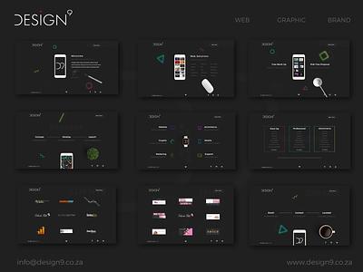 Design9 New Website animation landing page ux ui uxui branding illustration web design website