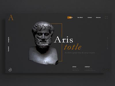 Aristotle UI/UX Landing Page Concept web ux ui design website landing page uxui