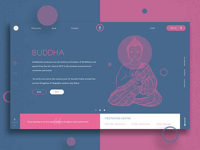 Buddha Ux Ui Home Page design uxui website ux ui landing page