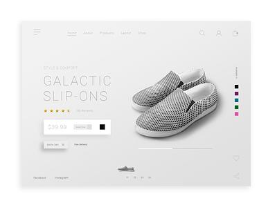 Minimal Shoe Shop Ui Ux minimal web concept design ecommerce website ui uxui ux landing page