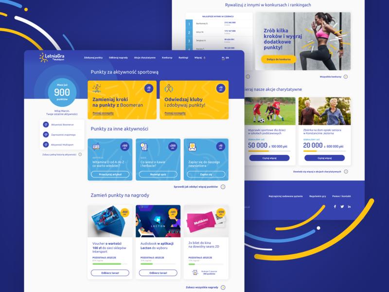 #1 Multisport motivational summer program product design dashboard design dailyui multisport sport minimal website flat typography webdesign web design ux ui dashboard