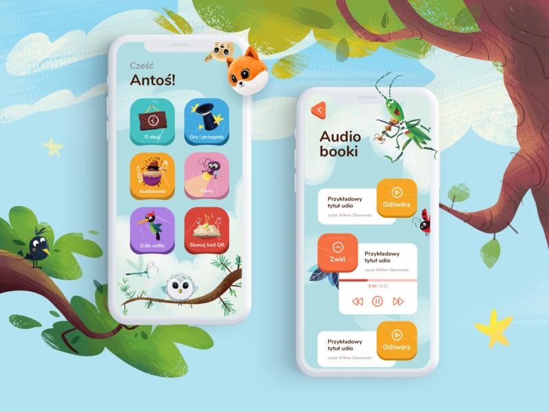 Gang Słodziaków 2 - Mobile App for Kids illustration game app animation dailyui ux ui game design kids kids art biedronka graphicdesign
