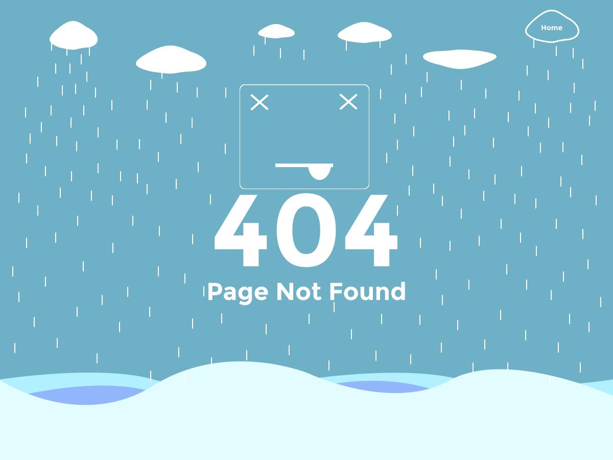 404 Page Not Found flat website design illustration web ui