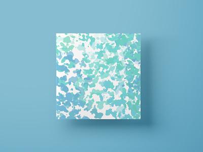 Impressionist brush shop artprint relax meditate splash art mockup blue watercolor