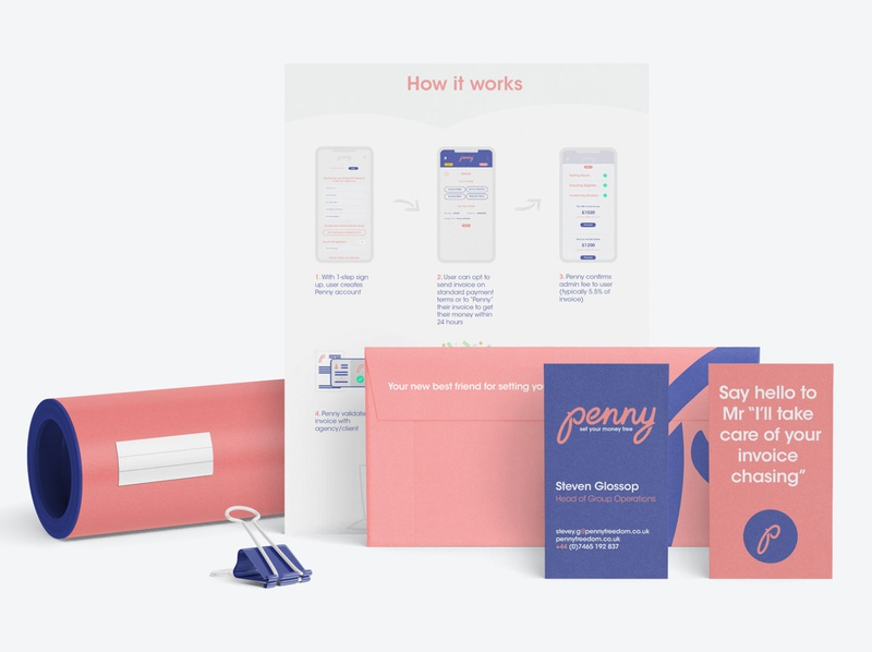 penny | brand collateral typography design stationery illustration logo identity branding clean brand