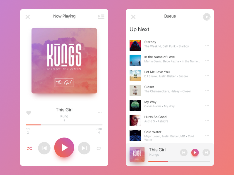 Music design ui app