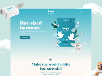 Kaya — Landing Page ui webdesign relaxing cloud chewing gum landing landingpage