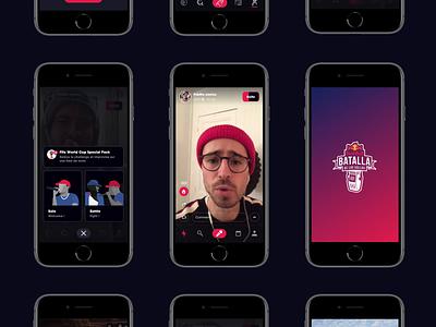 Red Bull - Batalla De Los Gallos dark content motion ui ux video live music red bull