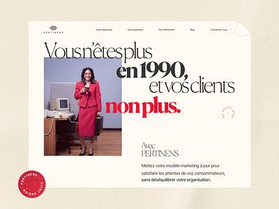 Pertinens — Website retro vintage paper communication branding animation ui pertinens