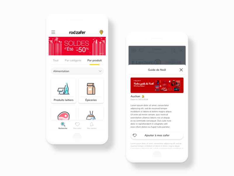 Rodzafer app - UX/UI Design catalogs offers shopping mobile app mobile app branding illustration web ui