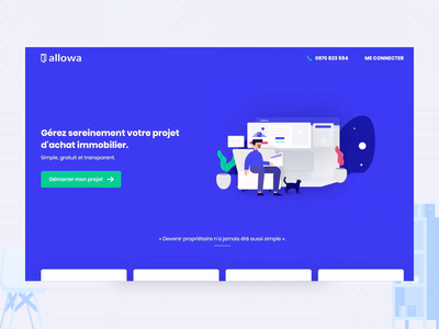 Allowa — Landing page motion aftereffects animation clintagency clint landingpage page landing ux ui