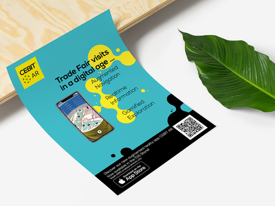 CEBIT Fair Augmented Reality Flyer design
