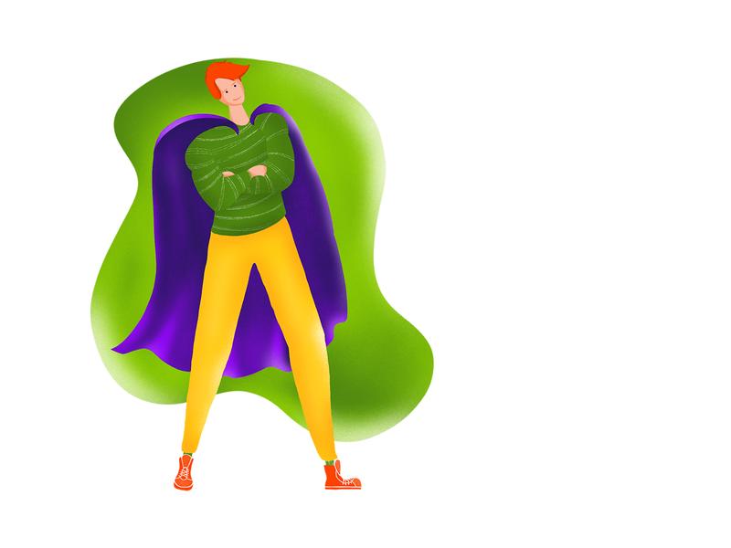Superheld (Illustration) procreate art germany gestaltung galshir digital painting digitalart illustraion procreate
