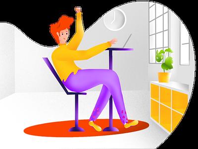 Yeah! It works ipadpro procreate flat illustration ui illustration gestaltung germany flatdesign