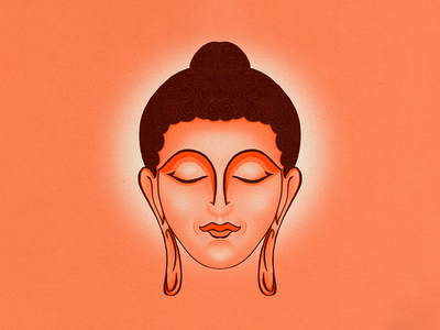 Buddha spirituality buddhism oriental indian procreate app procreateapp procreate art ipadpro digital illustration digital art digital painting drawing illustration buddha