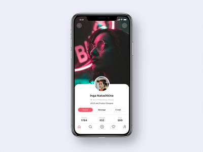 Scroll animation for User Profile