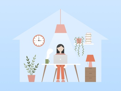 Work from home work home illustration