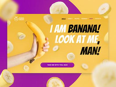 Banana landing page fruit banana landingpage ux ui design illustration