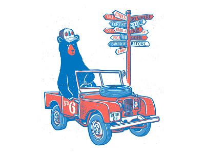 Lost Bear design illustration handdrawn