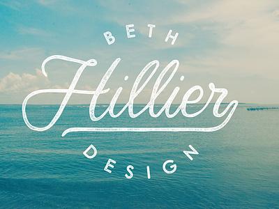 Beth Hillier Logo typography handdrawn identity design