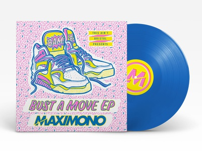 Maxi Mono - Bust A Move EP typography branding design illustration handdrawn
