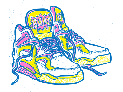 Maxi Mono - Bust A Move EP design illustration handdrawn