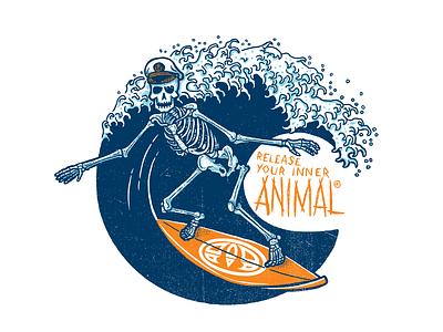 ANIMAL 01 typography design illustration handdrawn