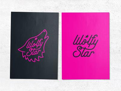 WOLFY STAR logo 02 design identity design logo branding